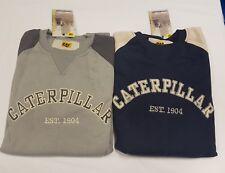 Mens Boys Caterpillar Jumper Top BNWT S M L XL Navy or Grey