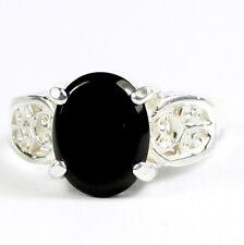Black Onyx,Solid  925 Sterling Silver Ladies Ring, SR369-Handmade