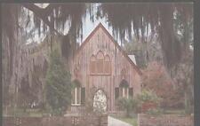 Postcard BLUFFTON South Carolina/SC Episcopal Church of the Cross 1950's