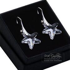 STELLA MARINA 16 mm cristalli di Swarovski ® 925 Argento Sterling Orecchini chiaro