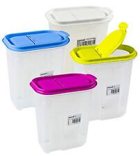 LOTE Envases Caja de almacenamiento Recipientes para cereales 1,1 2,0 y 5,0