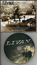 LIVAN Undead RADIO DJ PROMO CD Single 2010 w/ PETER MURPHY tour mention BAUHAUS