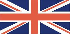England Union Jack Flag 2 X Sticker 12cmx9cm self adhesive weatherproof vinyl