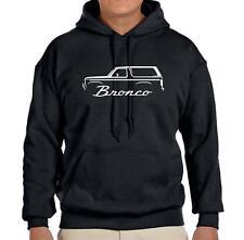 1980-86 Ford Bronco Truck Outline Design Hoodie Sweatshirt FREE SHIP