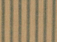 Homespun Ticking Fabric | Green Stripe Fabric | Primitive Stripe Fabric