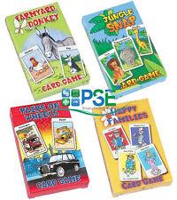 Enfants jeux de cartes traditionnel des familles heureuses jungle Snap basse-cour âne