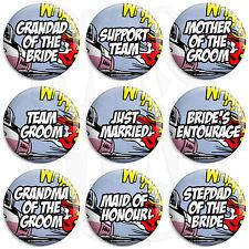 Comic Wedding - Various Designs - 25mm Button Badge with Fridge Magnet Option