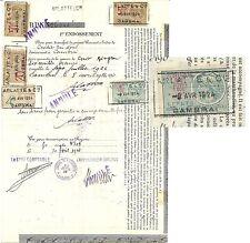 Timbres d'effets de commerce sur un warrant à ordre (1924).