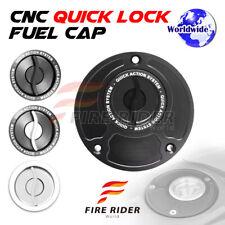FRW BK/SI CNC Quick Lock Fuel Cap For Honda CBR 929 RR 00-01 00 01