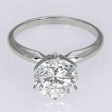 Verlobungsring, Solitär - 0.50 Karat Diamant - in 585/14K Weißgold + Zertifikat