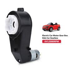 6V 12V 30000RPM  Motore Elettrico Gear Box Bambini Auto Giocattolo Car Toy