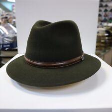 BORSALINO OLIVE GREEN OUTBACK FUR FELT FEDORA DRESS HAT *READ BELOW 4 SIZE