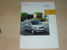 35321) Opel Agila Polen Prospekt 2003