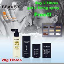 Beaver Hair Building Fibres Thickening Fibers Loss Regain Concealer Fixing Spray