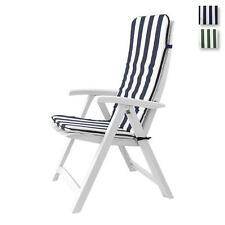 Cuscino copri sedia sdraio da giardino 45x120 cm Righe mod. Relax P519