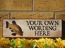 Signo de pesca caseta de jardín Signo Signo Trucha Perca Lucio Carpa Koi Estanque signo Peces De Regalo