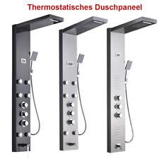 Wasserfall Duschkopf Massagedüsen Thermostat Dusche Tower Panel Duschpaneel DE