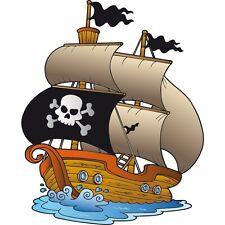 Autocollant Stickers bateau pirate Ref: NW2508