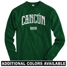 Cancun Mexico Long Sleeve T-shirt LS - Quintana Roo Beach Resort - Men / Youth