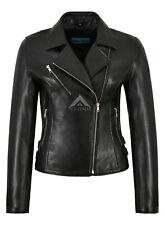 Womens Bikers Jacket Black Genuine Leather Fashion Tops PERFECTO Jacket 1989
