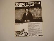 advertising Pubblicità 1976 MOTO SUZUKI GT 750