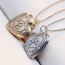 Heart Pendants Necklace Women Open Locket Photo Valentine Lover Gift Accessories