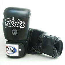 FAIRTEX MUAY THAI KICK BOXING GLOVE BLACK COLOR BREATHABLE BGV1 MMA SPARRING