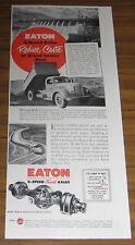 1950 Ad Eaton 2-Speed Axles International Dump Truck
