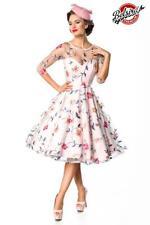 50er Jahre Vintage Kleid rosa Retro Blumenkleid Damen Kleid elegant Rockabilly