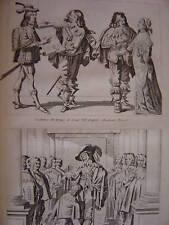 Gravure Chevalier de St Michel  Cér. Ordre du St Esprit