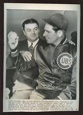 Original Feb 1 1943 Paul Derringer Chicago Cubs Wire Photo
