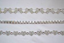 100cm Diamante effect trim for wedding craft stationary cards invites post box