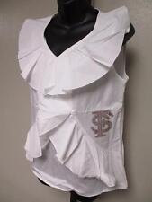 NEW Florida State Seminoles Womens Designer L-XL Ruffle Shirt Meesh & Mia