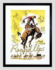 85682 TRAIN RAILAD RODEO BRONCO COWBOY NATIVE AMERICAN WALL PRINT POSTER AU