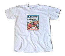 Vintage Cranmore Mountain Skimobile Travel T-Shirt - New Hampshire, Snow Ski