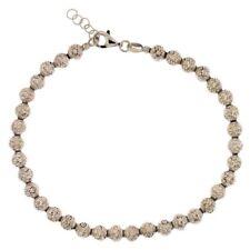 Bracciale oro Bianco 18 kt sfere da 5mm gioielli donna uomo regalo matrimonio