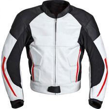 Hommes Cuir Biker Veste Moto Cuir Veste Courses Sports Cuir Veste EU 50-60