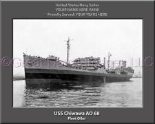 USS Chiwawa AO 68 Personalized Canvas Ship Photo Print Navy Veteran Gift