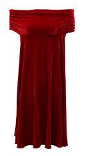 Baylis & Knight Red Velvet Bardot Bandeau Off The Shoulder Cocktail Dress