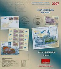 Roumanie 2007 capitale culturelle, Luxembourg, Hermann ville mi.6238, Ko, bloc 409,fdc