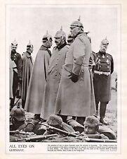 1914 PRINT WWI ~ KAISER WAR LORD GENERAL HELMUTH VON MOLTKE PICKLE HELMETS &C