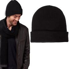 Cappello uomo invernale caldo berretto nero casual art. D0532