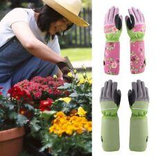 Leather Rose Gardening Gloves Women Thorn Proof Hand Pruning Trimming Gardening