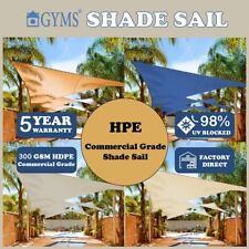 *EXTRA HEAVY DUTY SHADE SAIL Sun Shadecloth Triangle 5X5X5m 3.6X3.6X3.6m 5 Color