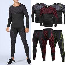 Compression Athletic Legging Long Pants Shirt Mens Workout Running Training Wear
