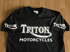 Triton Motorcycles (Old Logo x 4) - Colour T-shirts - colour print options