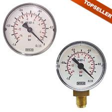 Vakuummeter waagerecht / senkrecht, ø 63 mm, Kl. 2.5, Vakuum, Luft, Glycerin
