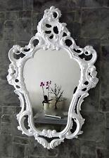 Wandspiegel Oval barock Gold Silber Schwarz Weiß 50x76cm  Spiegel Antik Shabby