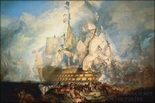 Poster, Many Sizes; Battle Of Trafalgar By J. M. W. Turner ( Hms Victory Lord Ho