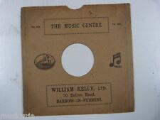 "78 rpm 10"" inch card gramophone record sleeve , WILLIAM KELLY , BARROW"
